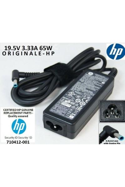 ALIMENTATORE ORIGINALE HP 710412-001 19.5V 3.33A 65W ADPTR NPFC S-3P 4,5 MM
