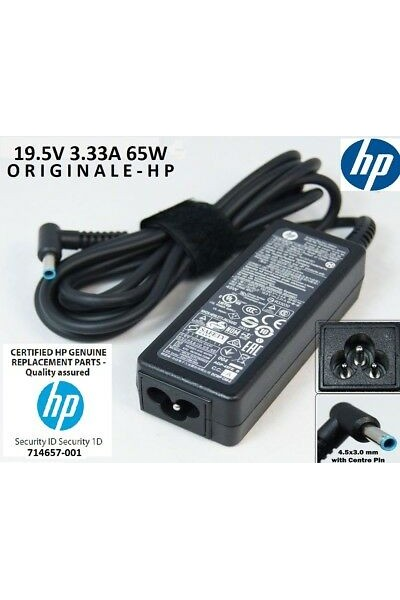 ALIMENTATORE ORIGINALE HP 714657-001 19.5V 3.33A 65W ADPTR NPFC SMART RC 4,5 MM