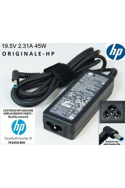 ALIMENTATORE ORIGINALE HP 741553-850 19.5V 2.31A 45W ADPTR NPFC SMART RC 4,5 MM