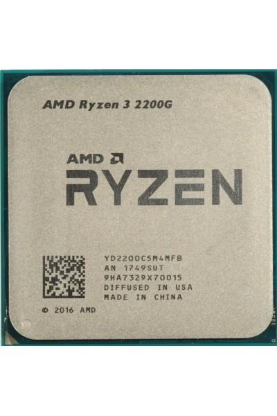 AMD RYZEN 3 2200G (3.50-3.70 GHZ) QUAD CORE AM4 GPU VEGA 8 NUOVO TRAY BULK