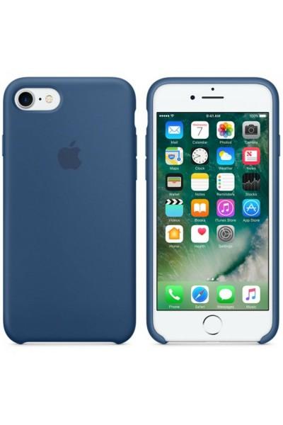 APPLE iPHONE 7 IPHONE 8 SILICON CASE OCEAN BLUE ORIGINALE COVER NUOVA SIGILLATA