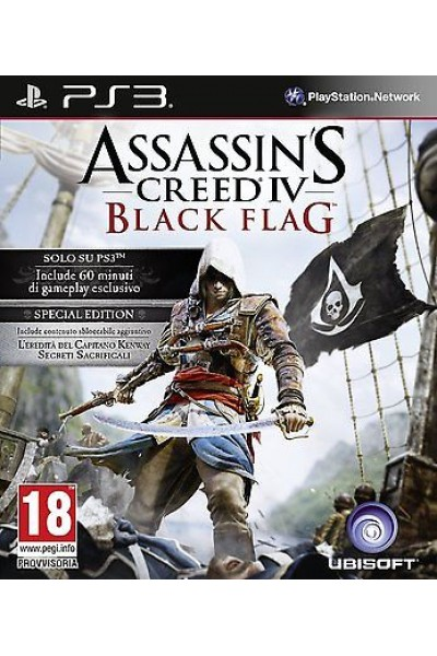 ASSASSIN'S CREED 4 BLACK FLAG PER PS3 COME NUOVO UFF. ITALIANO