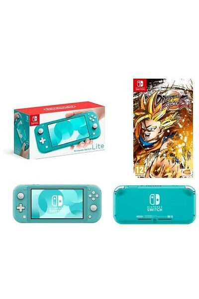 CONSOLE NINTENDO SWITCH LITE TURCHESE + DRAGONBALL FIGHTERZ OFFERTA GIOCO NUOVO