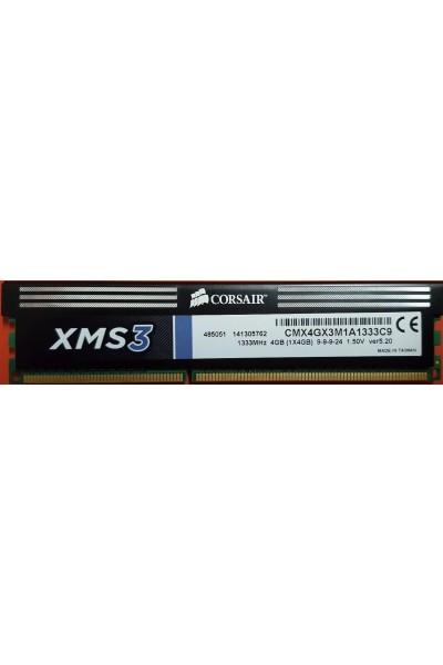 CORSAIR DDR3 RAM DESKTOP 1333 MHZ 4GB PC3 10600 CL9 240 PIN CMX4GX3M1A1333C9