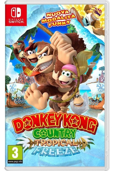 DONKEY KONG COUNTRY TROPICAL FREEZE PER SWITCH NUOVO VERSIONE UFFICIALE ITALIANA
