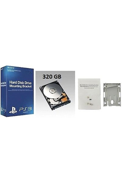 HARD DISK PER SONY PS3 SUPERSLIM: CADDY ORIGINALE SONY +HARD DISK 320 GB