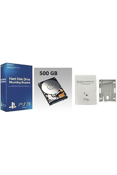 HARD DISK PER SONY PS3 SUPERSLIM: CADDY ORIGINALE SONY +HARD DISK 500 GB