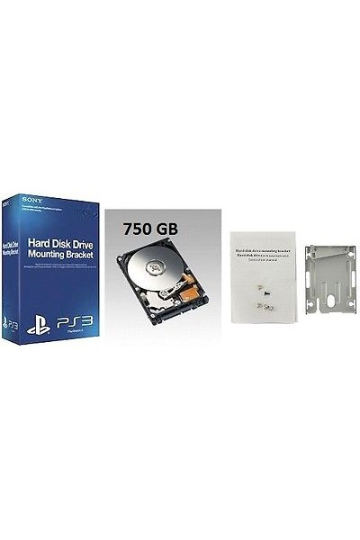 HARD DISK PER SONY PS3 SUPERSLIM: CADDY ORIGINALE SONY +HARD DISK 750 GB