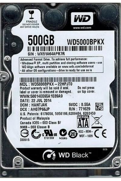 HARD DISK SATA 500 GB WD BLACK WESTERN DIGITAL WD5000BPKX NUOVO SIGILLATO