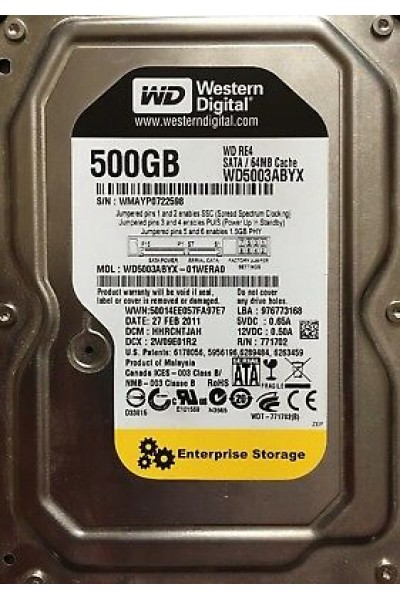 HARD DISK WD BLACK ENTERPRISE 500 GB 3,5
