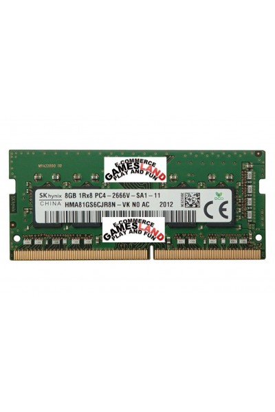 HYNIX DDR4 RAM LAPTOP 2666 MHZ 8GB 1RX8 PC4 2666V-SA1-11 HMA81GS6CJR8N-VK N0 AC