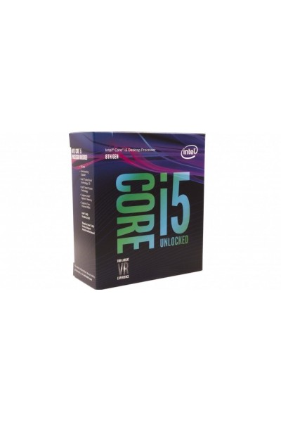 INTEL CORE i5-8600K 6 CORE 3.6 GHZ TURBO 4.30 GHZ CPU BOX NUOVO SR3QU LGA1151