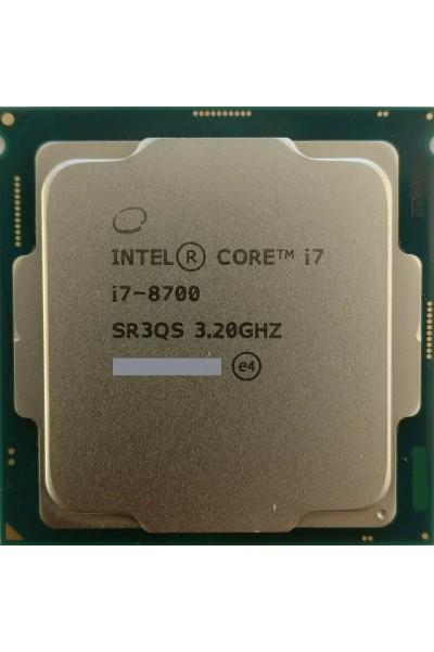 INTEL CORE i7-8700 6 CORE 3.20GHZ - 4.60GHZ CPU TRAY SR3QS 8TH GEN PARI AL NUOVO