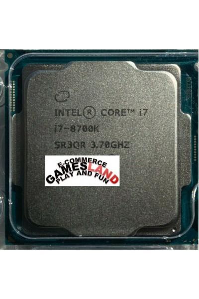 INTEL CORE i7-8700K 6 CORE 3.70GHZ-4.70GHZ CPU TRAY SR3QR 8TH GEN GARANZIA 1ANNO