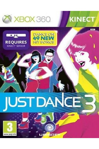 JUST DANCE 3  PER XBOX 360 RICHIEDE KINECT NUOVO