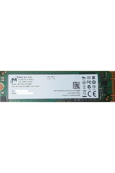MICRON SSD 512GB 2280 M.2 M600 MTFDDAV512MBF 560/MBs READ--520 MBs WRITE NUOVO