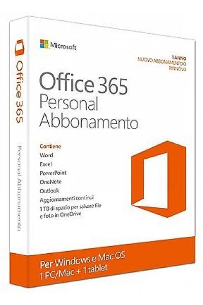 MICROSOFT OFFICE 365 PERSONAL PER 1 PC O MAC PRODOTTO UFFICIALE ITALIANO