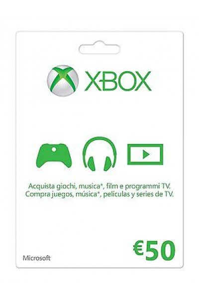 MICROSOFT POINTS 4200 -XBOX GIFT CARD 50 € PER XBOX 360-XBOX ONE O WINDOWS