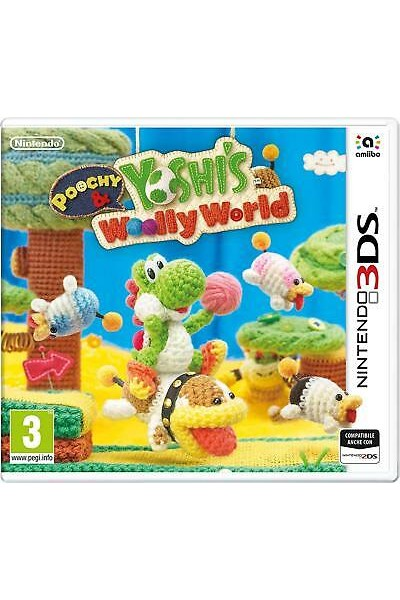 POOCHY E YOSHI'S WOOLLY WORLD PER NINTENDO 3DS-2DS NUOVO UFFICIALE ITALIANO