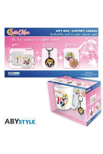 SAILOR MOON TAZZA MUG BIANCA 460 ML + 1 PORTACHIAVI + 2 SPILLE NUOVA ORIGINALE