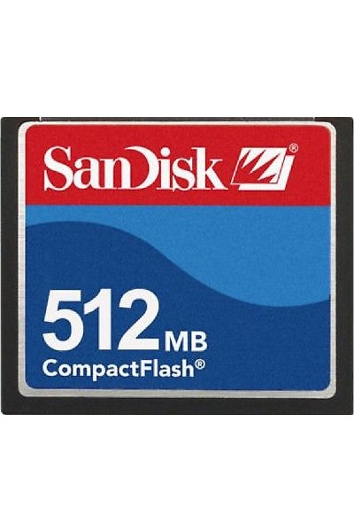 SANDISK COMPACT FLASH 512 MB NUOVA VERSIONE TRAY