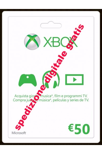 MICROSOFT POINTS 4200 -XBOX GIFT CARD 50 € PER XBOX 360-XBOX ONE SPEDIZIONE DIGITALE IMMEDIATA