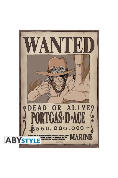 """ONE PIECE - Poster """"""""Wanted Ace"""""""" (dimensioni 91.5 x 61 cm)Prodotto Originale su licenza ufficiale"""