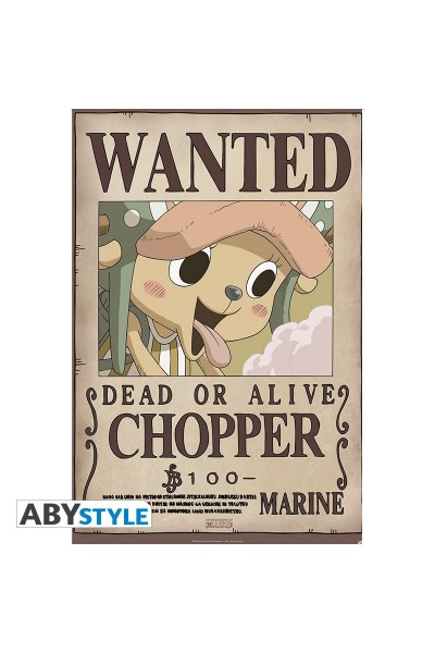 "ONE PIECE - Poster """"Wanted Chopper new"""" (dimensioni 91.5 x 61 cm)Prodotto Originale su licenza ufficiale"