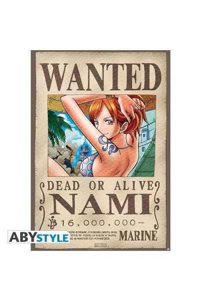 """ONE PIECE - Poster """"""""Wanted Nami"""""""" (dimensioni 91.5 x 61 cm)Prodotto Originale su licenza ufficiale"""