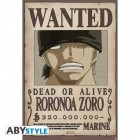 "ONE PIECE - Poster ""Wanted Roronoa Zoro"" (91.5x61)"
