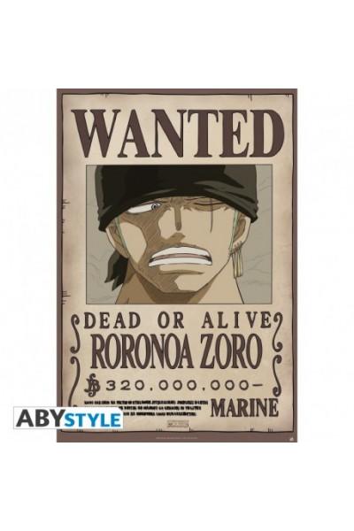 """ONE PIECE - Poster """"""""Wanted Zoro new"""""""" (dimensioni 91.5 x 61 cm)Prodotto Originale su licenza ufficiale"""