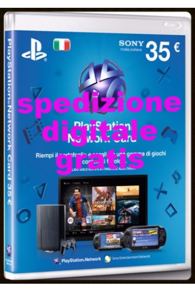 3 PEZZI PSN CARD DA 35 €(105 € DI RICARICA) PLAYSTATION NETWORK CARD PER SONY PS3- PS4- PSVITA-SPEDIZIONE DIGITALE IMMEDIATA