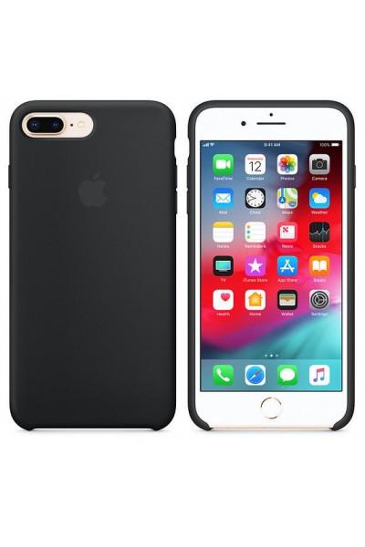 iPHONE 7 PLUS IPHONE 8 PLUS SILICON CASE BLACK ORIGINALE COVER NUOVA SIGILLATA